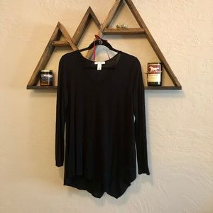 WHBM Long Sleeve Asymmetric Blouse